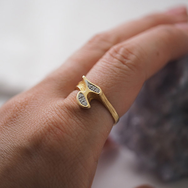 ラポーニア 18金 ダイヤモンドリング